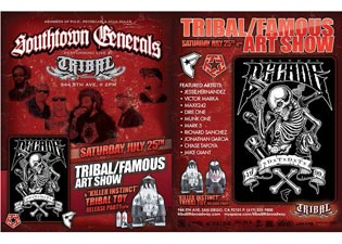 Tribal & Famous Art Show Saturday July 25th